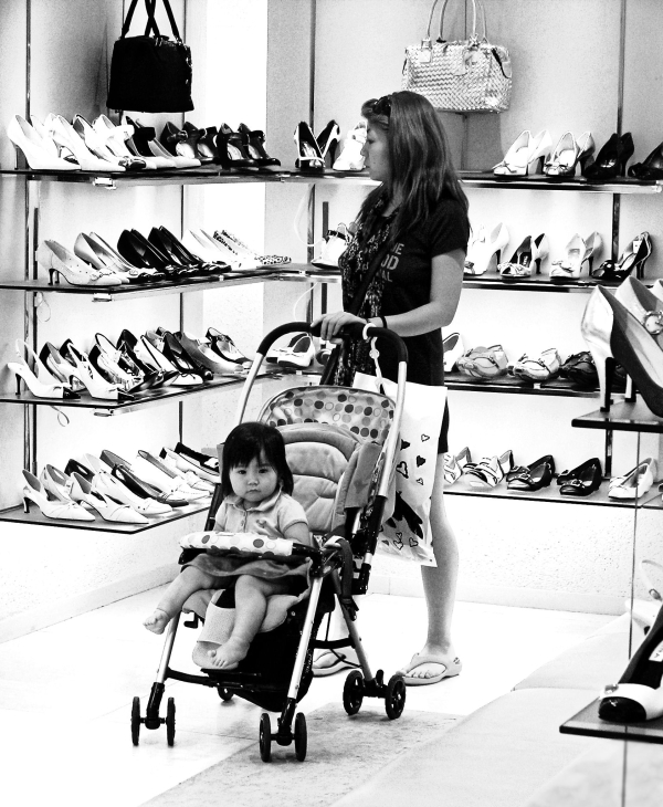 Okayama Station shopping mall shoes mother baby