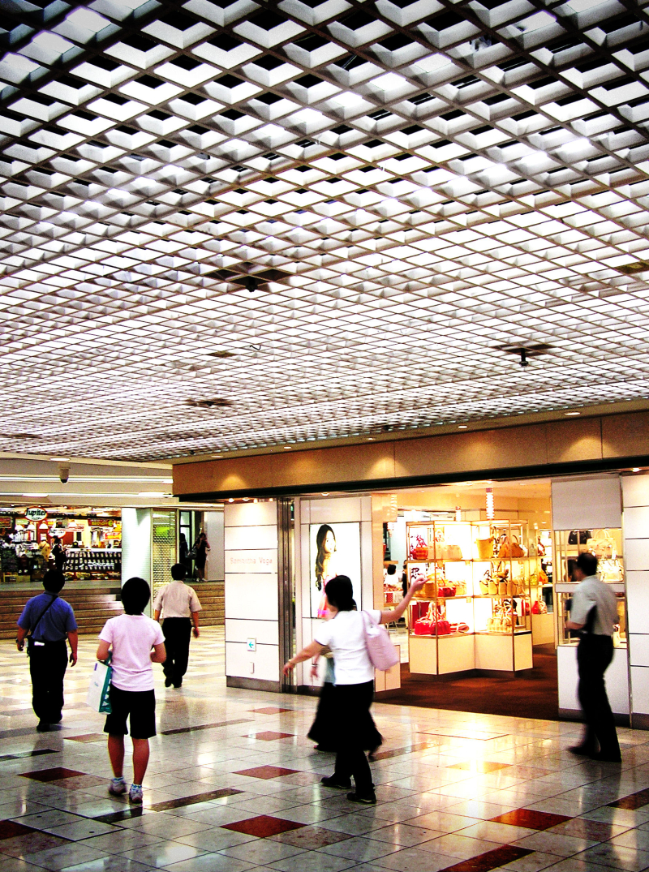 Okayama station shopping mall japan
