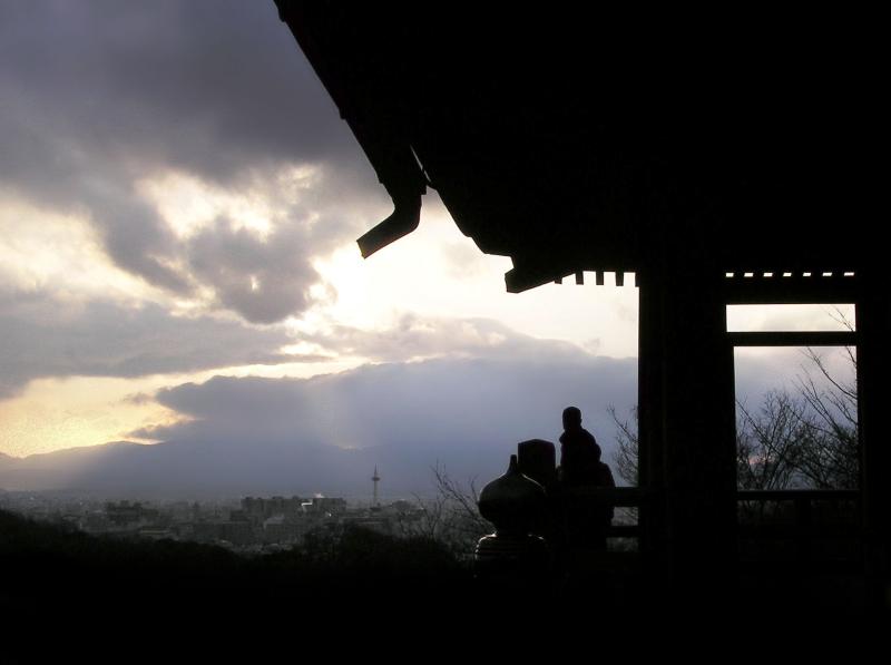 Kiyomizu-dera Japan Kyoto sunset view