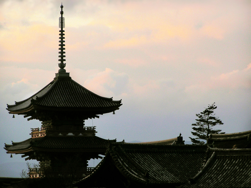 Kiyomizu-dera Japan Kyoto roof pagoda