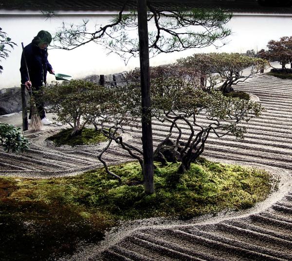 Tending the Grounds, Ginkakuji