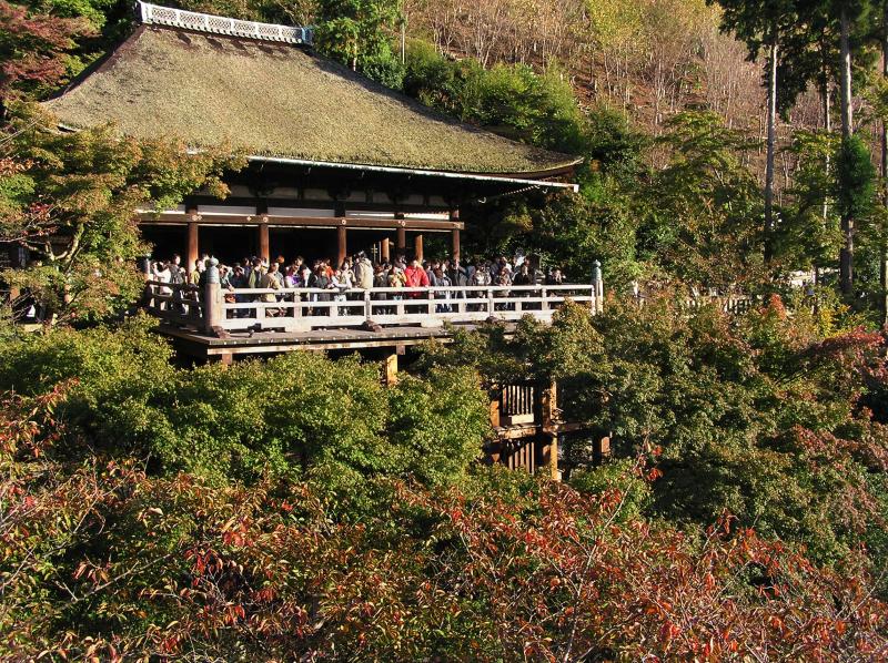 Kiyomizu-dera Japan Kyoto view autumn leaf