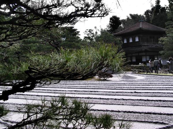 kyoto ginkakuji garden gravel