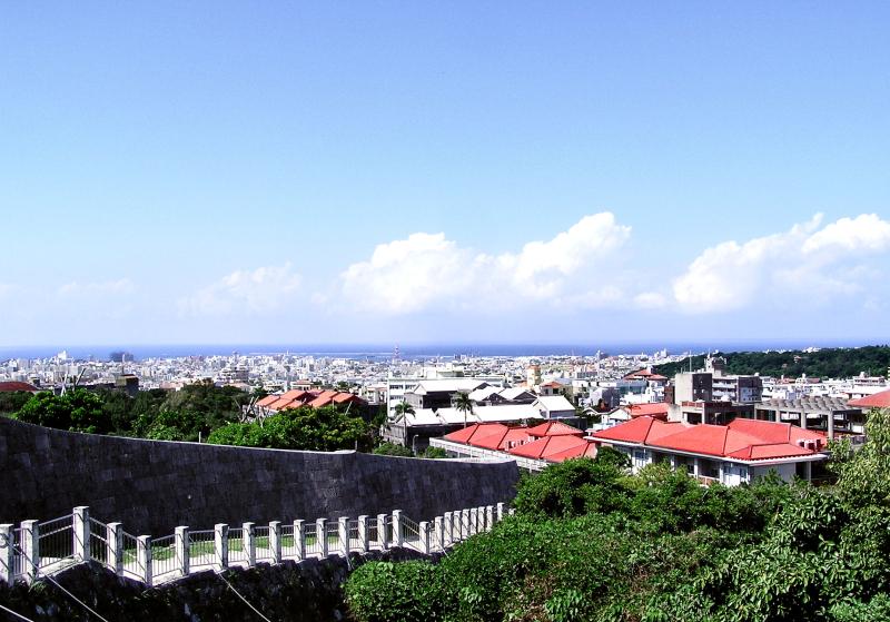 view city Naha Okinawa Shuri sea Japan
