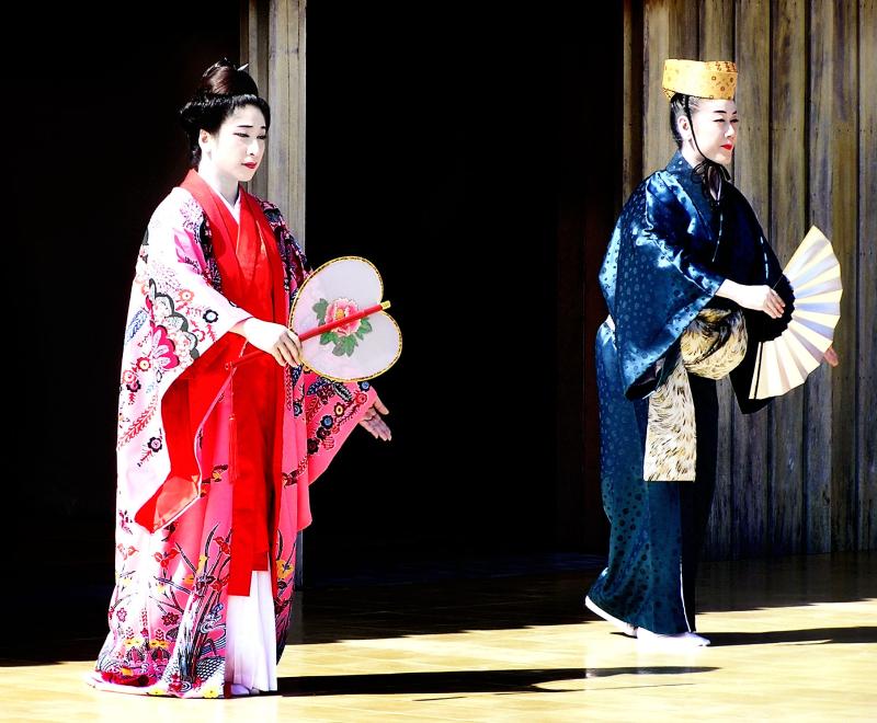 Shuri castle dancer Naha Okinawa Japan