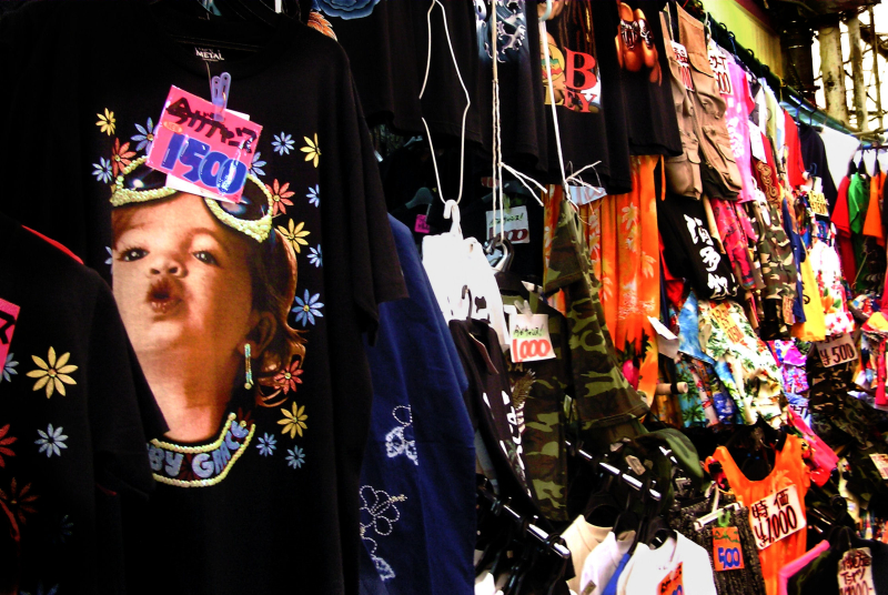 market Naha Okinawa clothes Japan Heiwadori
