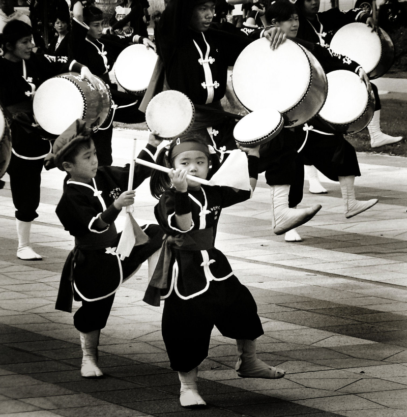 Dancer children parade, Naha Okinawa Japan