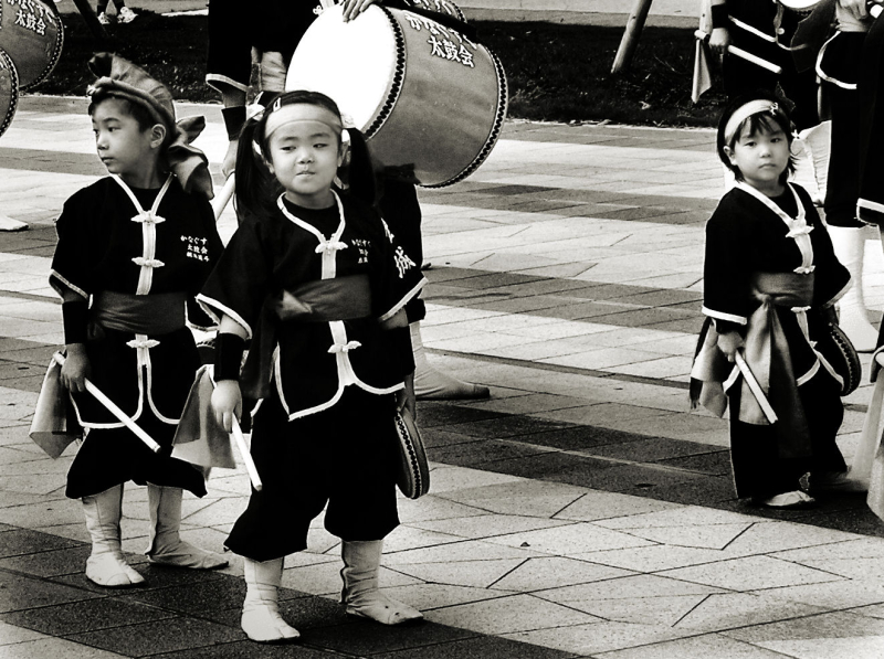 Dancer children parade, Naha Okinawa Japan