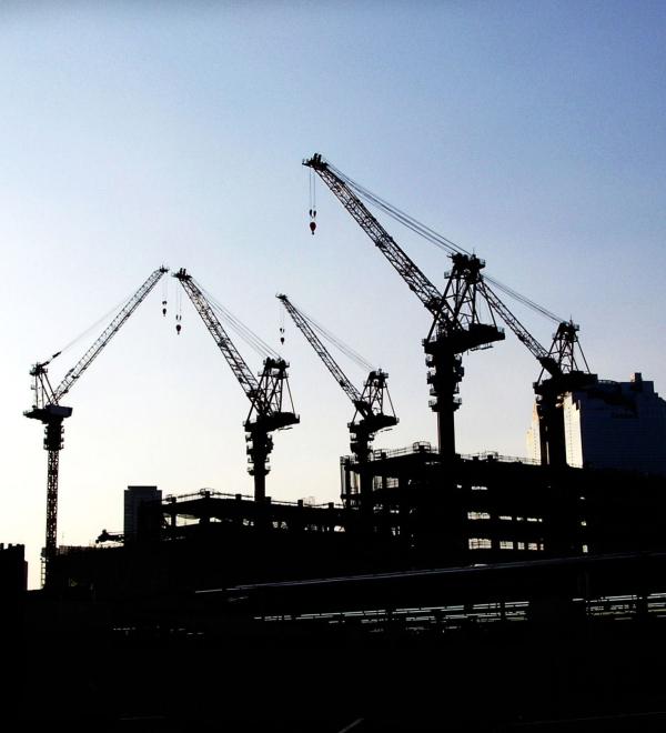 Umeda Osaka view city construction cranes Japan