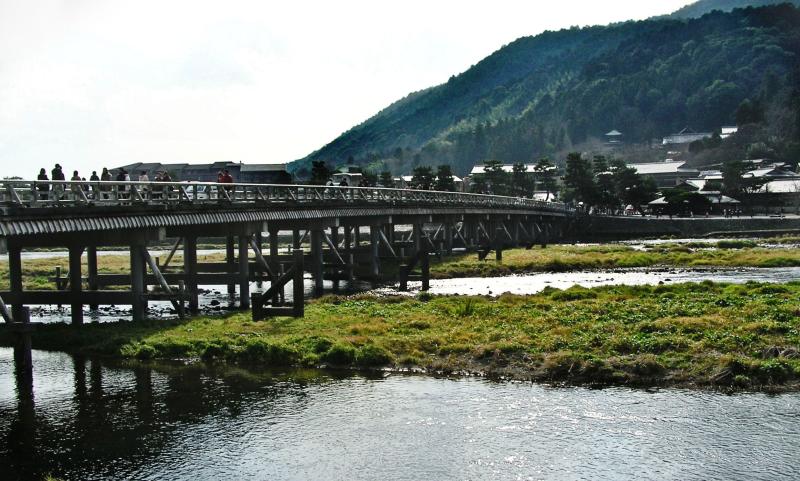 Togetsukyo, Arashiyama Kyoto bridge river Japan