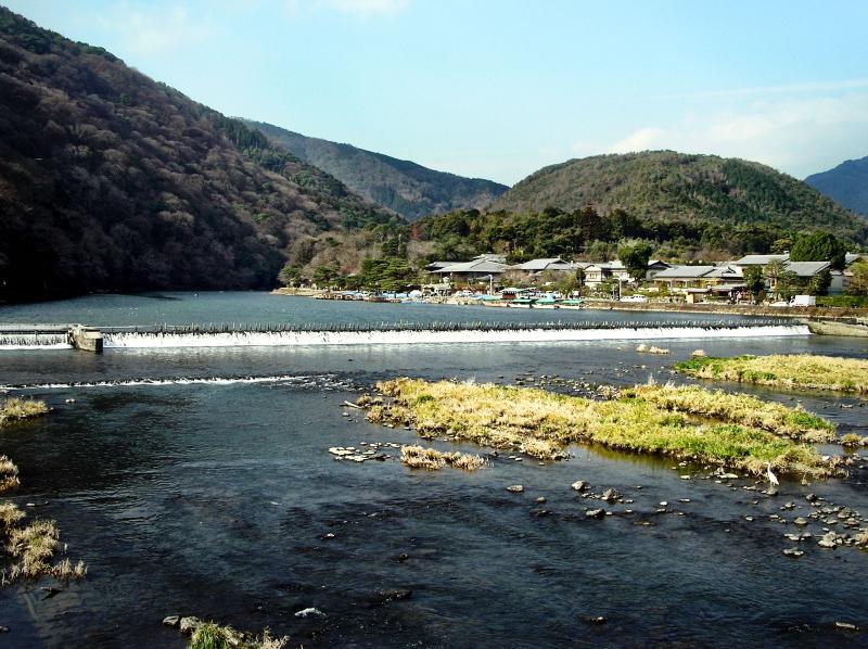 Togetsukyo, Arashiyama Kyoto bridge river view