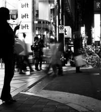 street Osaka Shinsaibashi city night