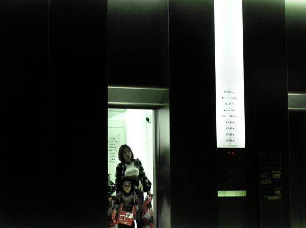 shinsaibashi osaka elevator shop japan