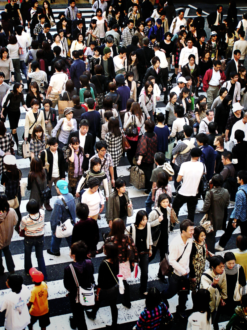 Umeda Osaka street crossing pedestrian japan