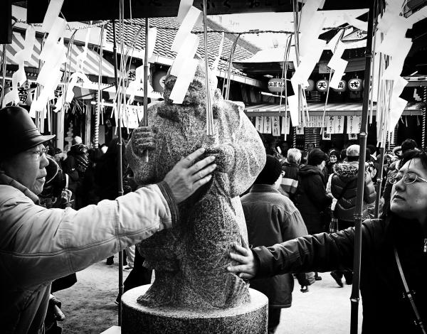 Ebisu shrine Osaka statue luck Japan