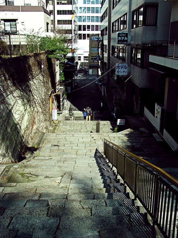 Osaka Temmabashi street steps Japan
