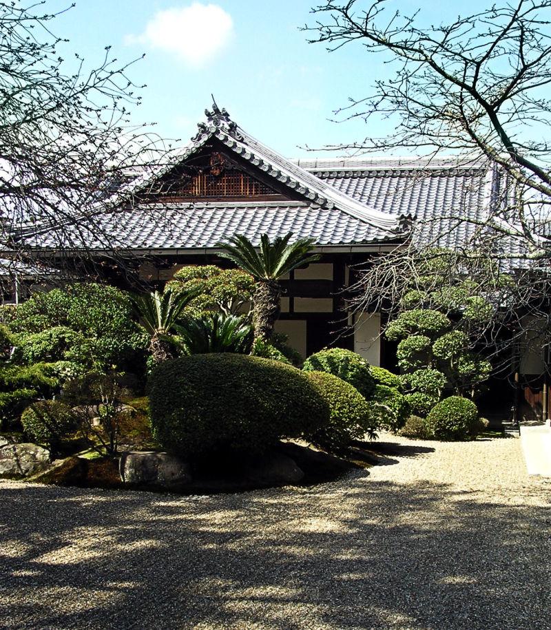 Nara house garden gravel Japan