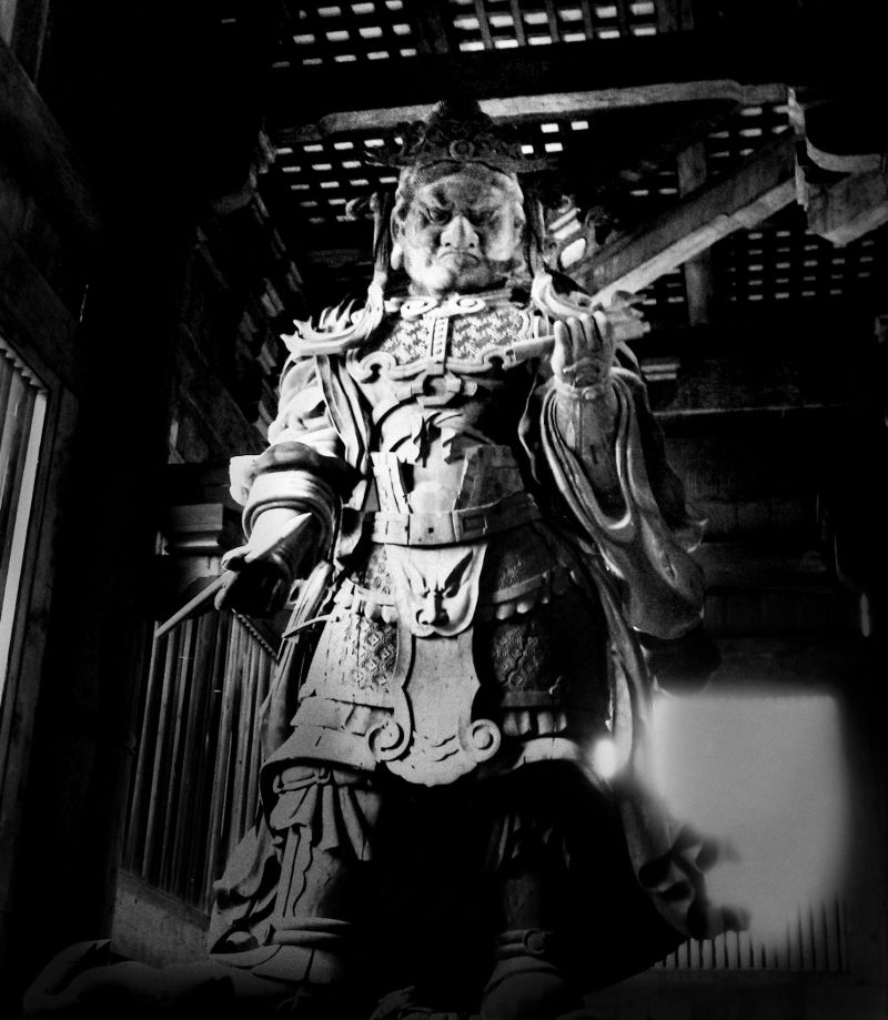 Todaiji temple Nara Japan Koumokuten statue