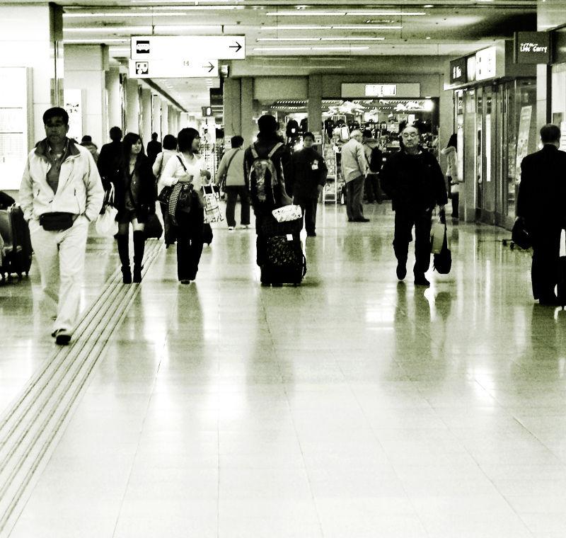 Haneda airport Tokyo Japan passengers