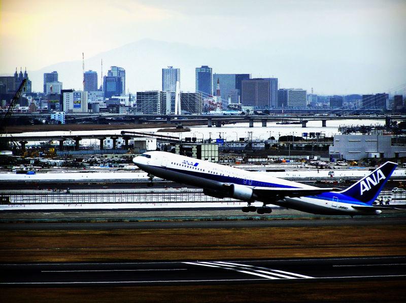 Haneda airport Tokyo Japan aeroplane