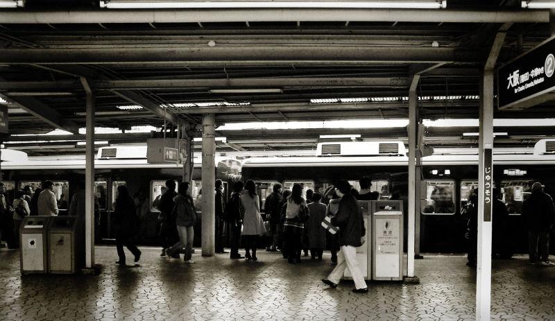 Hankyu Juso Osaka Japan station train passenger