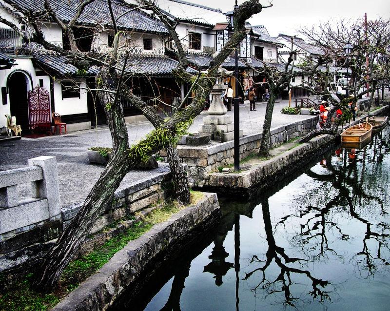 Kurashiki Okayama Japan Bikan-chiku river