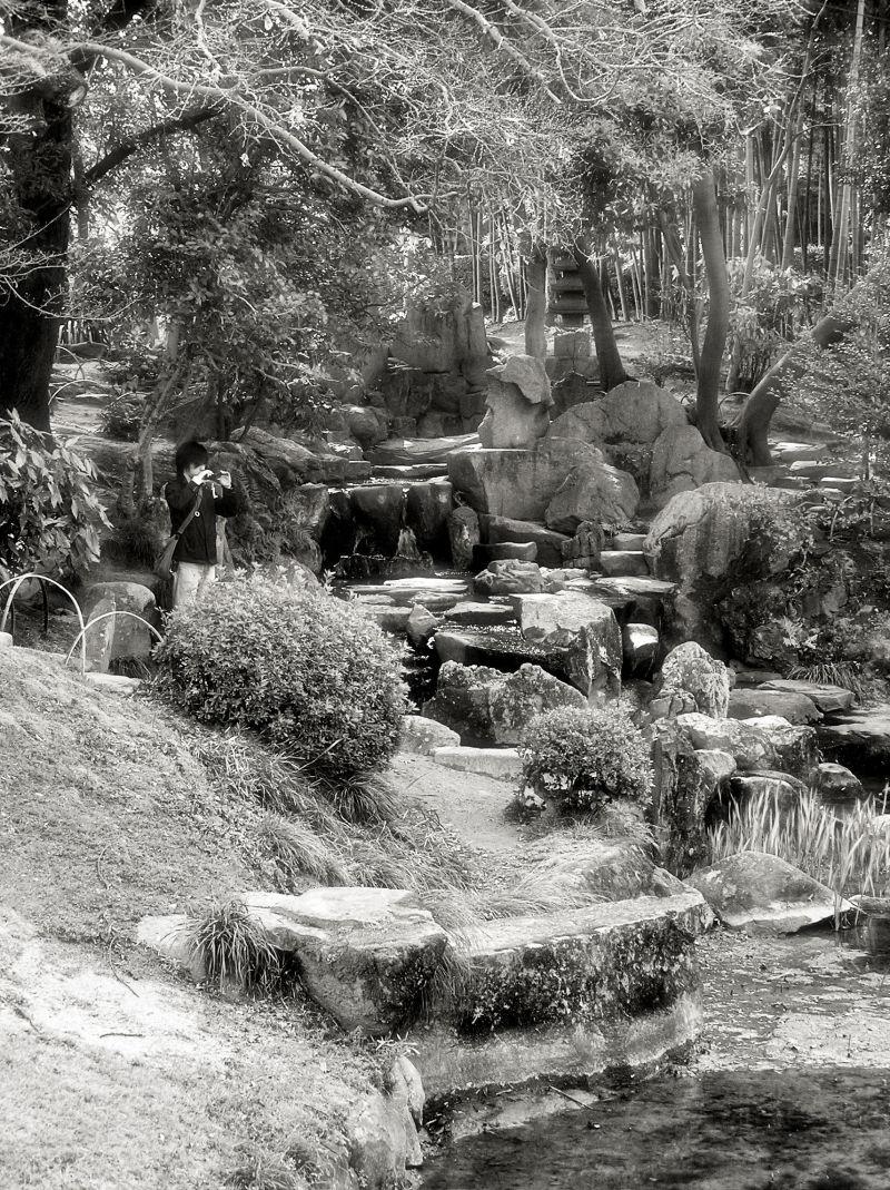 Okayama Japan Korakuen garden pond