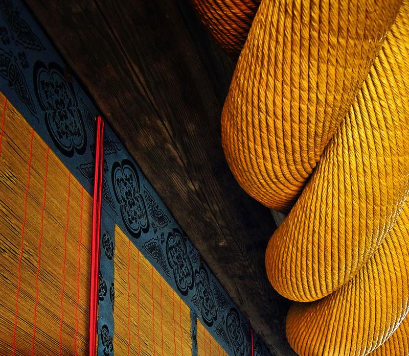 Kibitsu Shrine, Okayama Japan rope