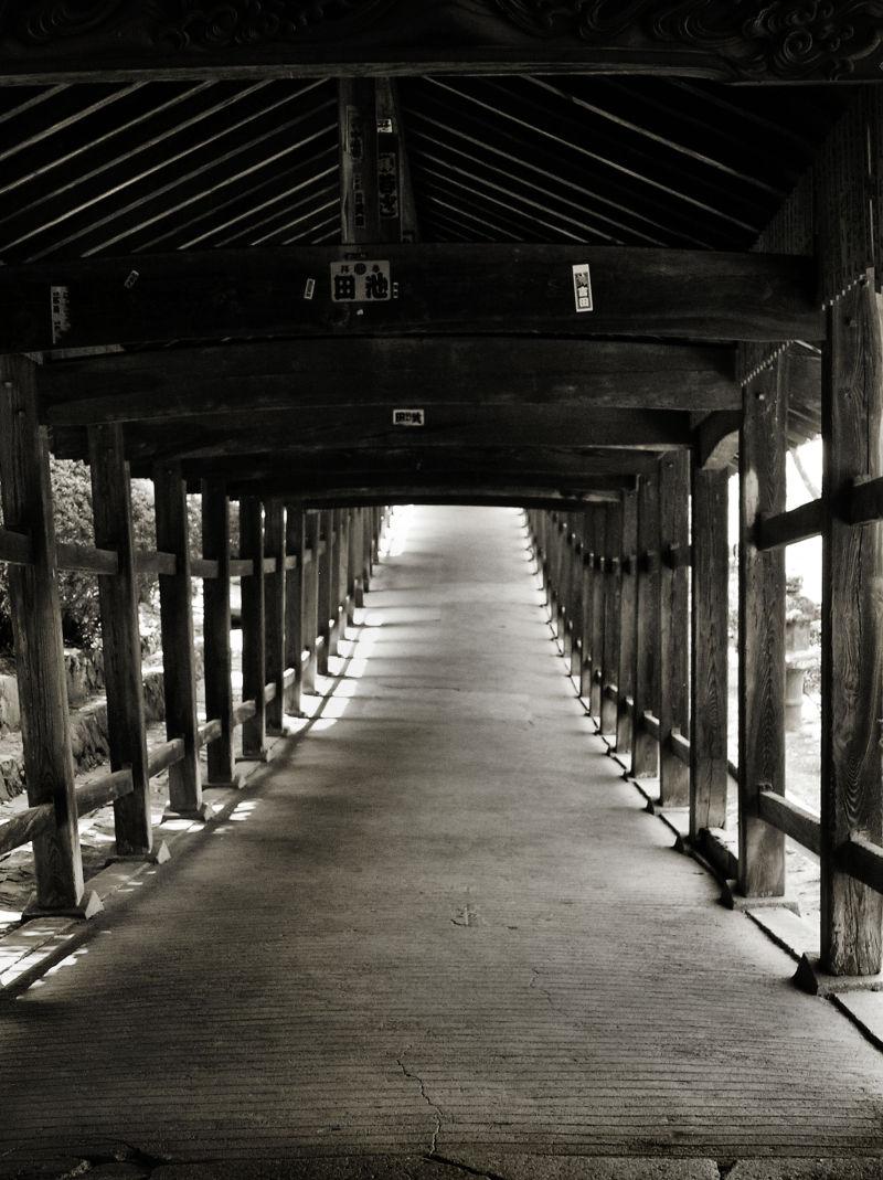 Kibitsu Shrine, Okayama Japan corridor