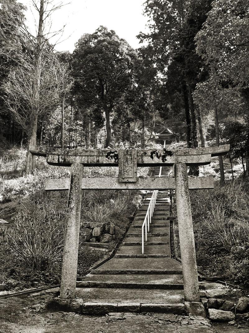 Kibitsu Shrine, Okayama Japan steps torii