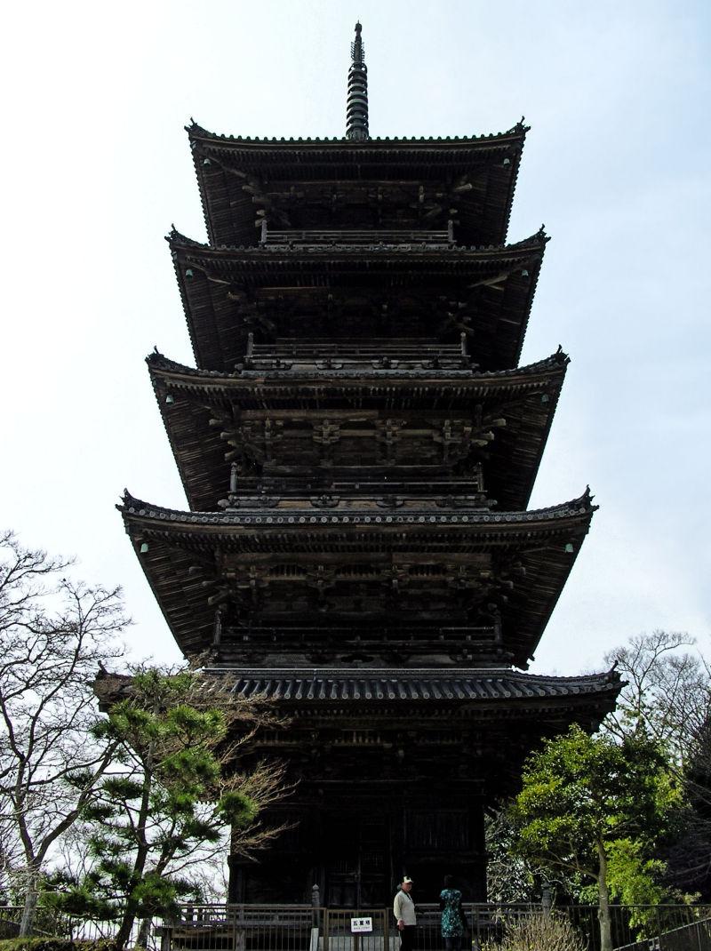 Bitchu-Kokubunji Okayama Japan temple Kibi pagoda