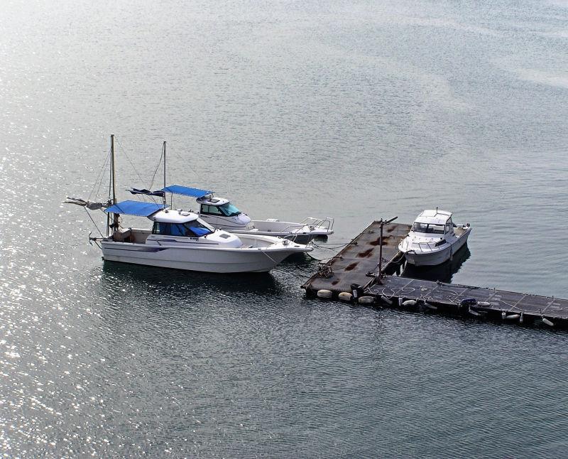 Ushimado Okayama Japan Seto-Naikai sea boat jetty