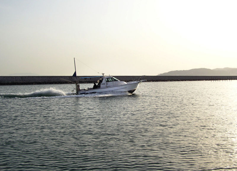 Ushimado Okayama Japan Seto-Naikai sea boat