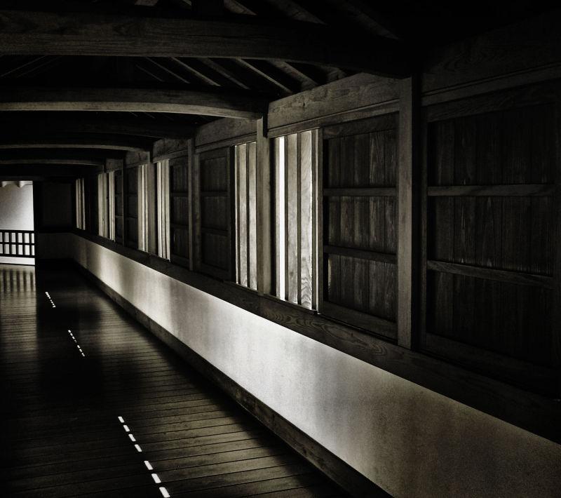 Himeji Castle Japan corridor window