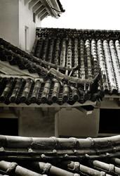 Himeji Castle Japan turret roof gable