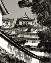 Himeji Castle Japan turret roof gable wall