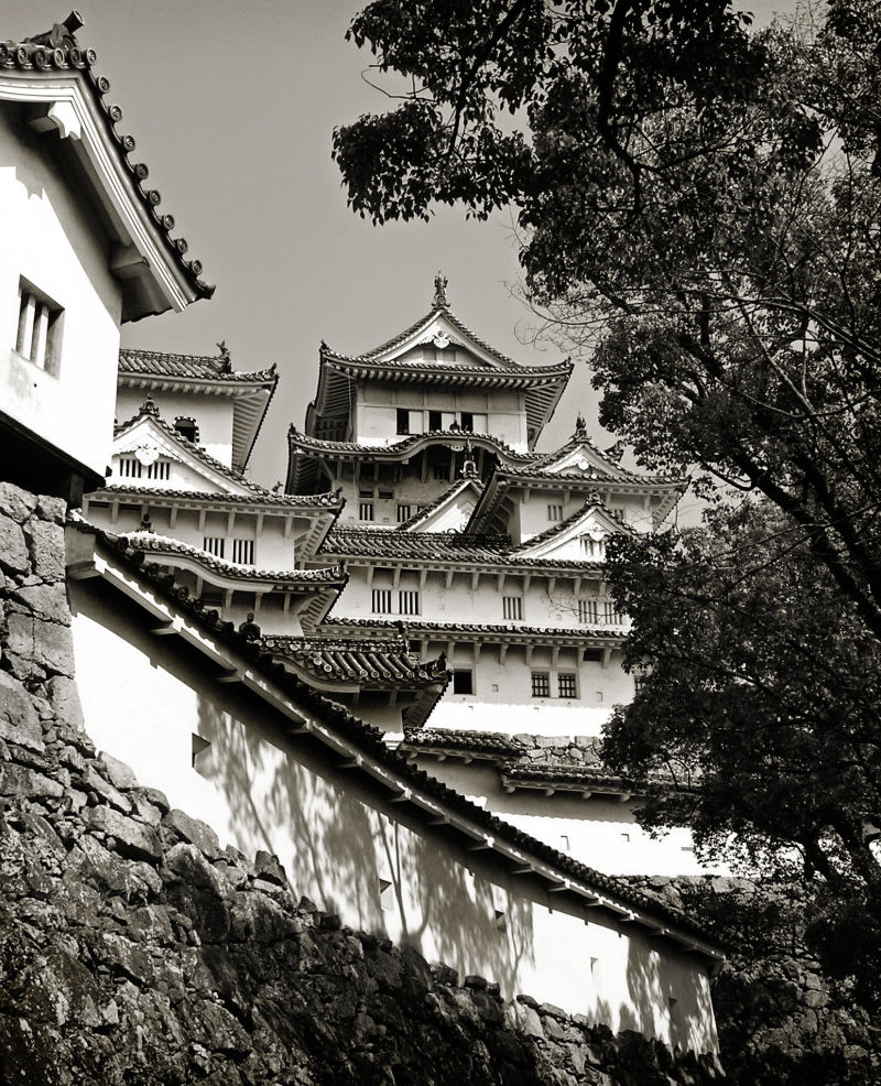 Himeji Castle Japan turret roof gable wall