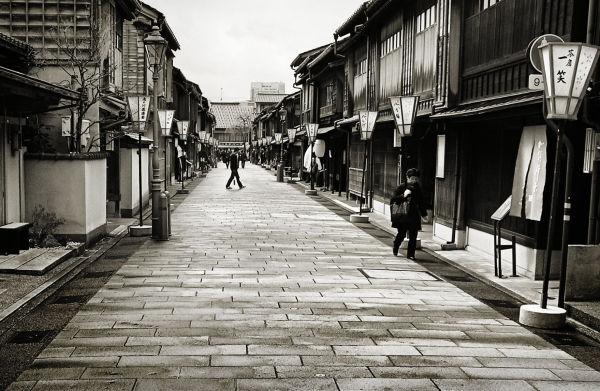Kanazawa Chayamachi tea-house Japan street