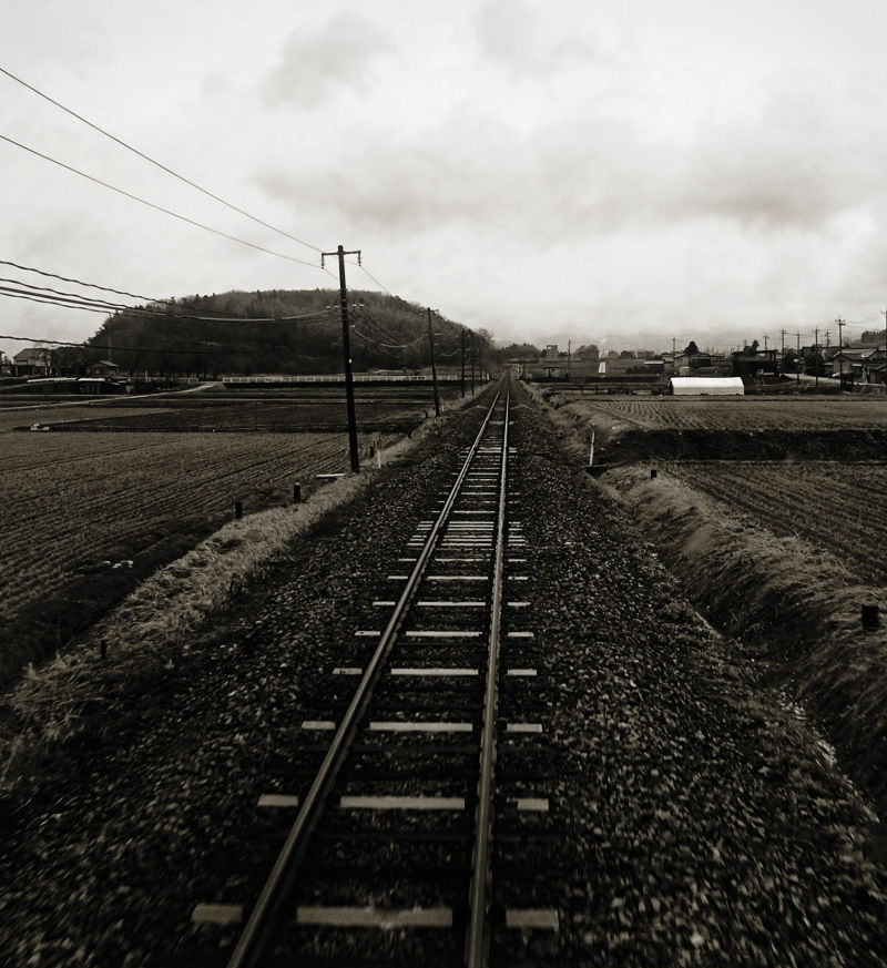 Toyama railway train countryside Japan