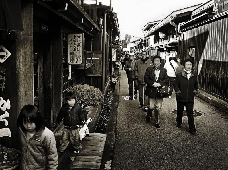 Hida Takayama sake brewery shop tourist Gifu Japan