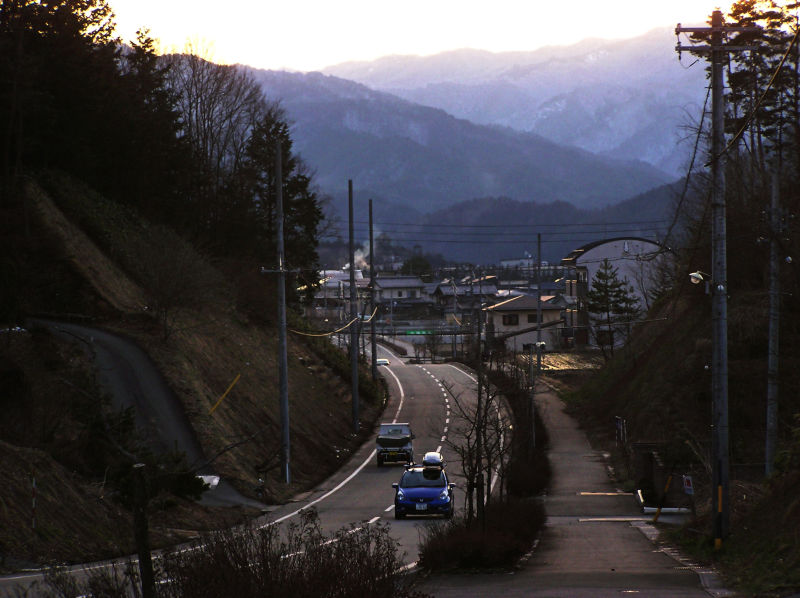 Hida Takayama tree sunset road Gifu Japan