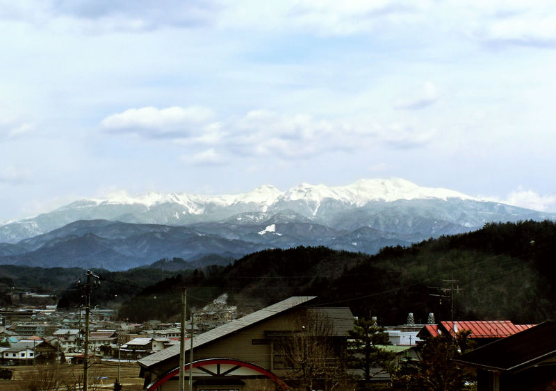 Hida Takayama mountain Alps Gifu Japan snow