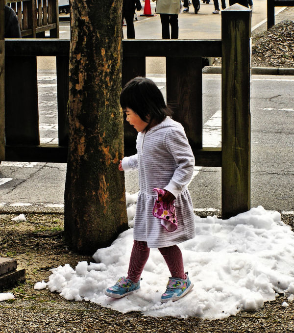 Shirakawa-go Hida Gifu Japan girl snow