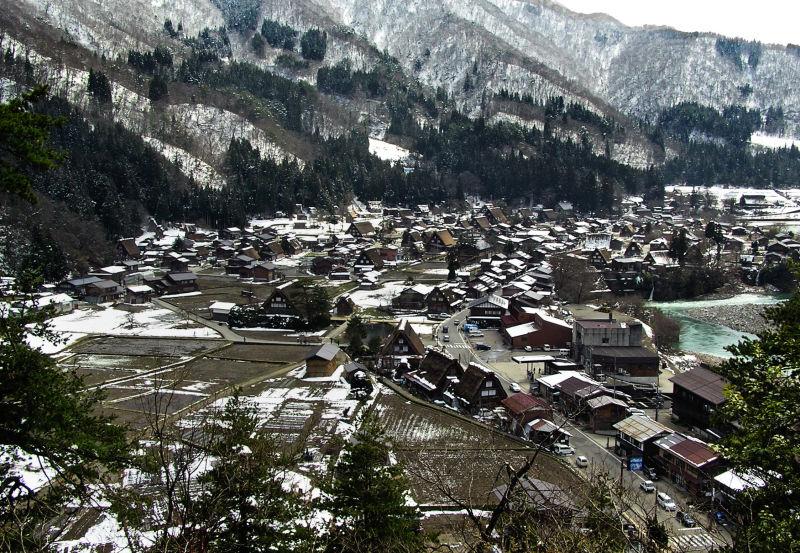 Shirakawa-go Hida Gifu Japan Gasshō-zukuri village