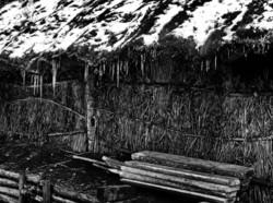 Hida Takayama Gifu Japan wood straw icicle thatch
