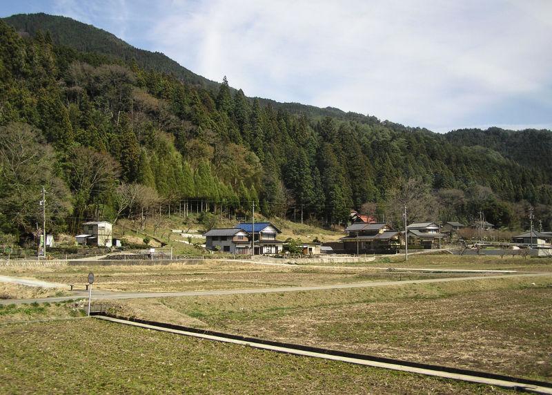 Hida Takayama rice-field house Gifu Japan tree