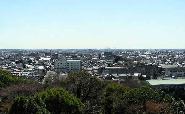 View toward Nagoya from Inuyama Castle