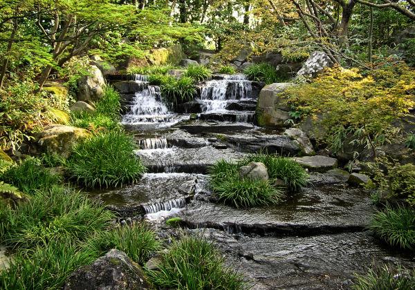 Kokoen garden Himeji Hyogo Japan waterfall tree