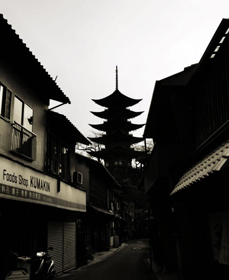 hiroshima japan miyajima senjokaku pagoda