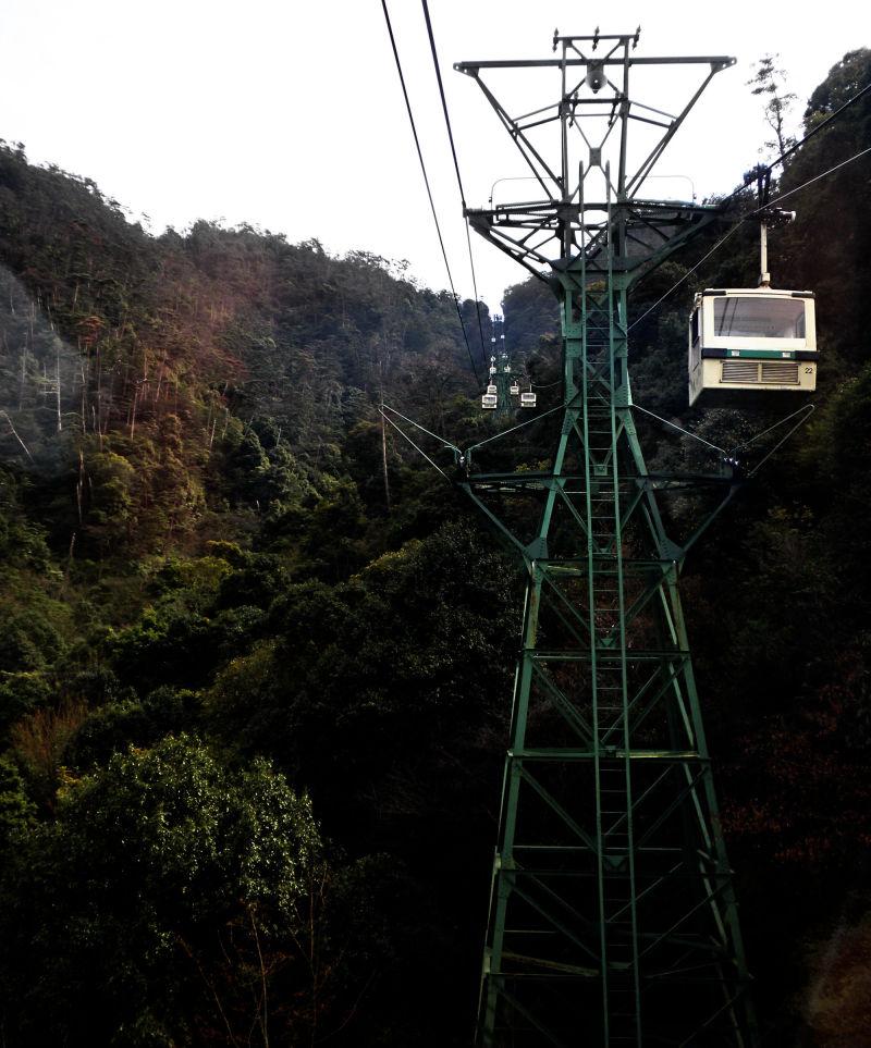hiroshima japan miyajima mountain cable-car